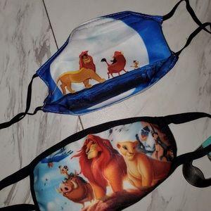 Two Kids Lion King masks never worn boy or girl